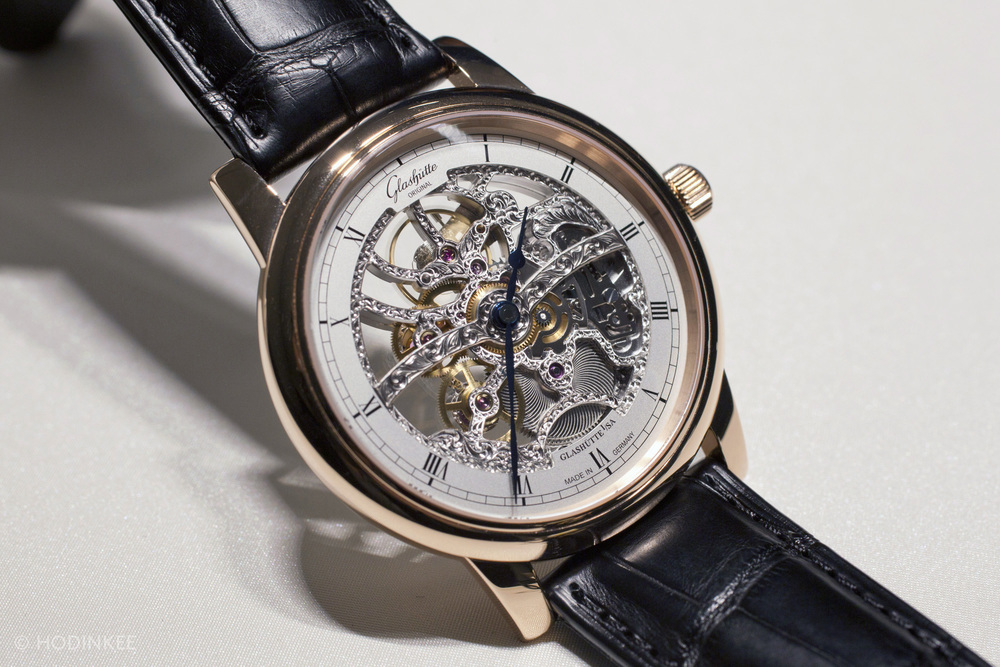 The Senator Manual Winding Skeletonized Edition is priced at $37,100.