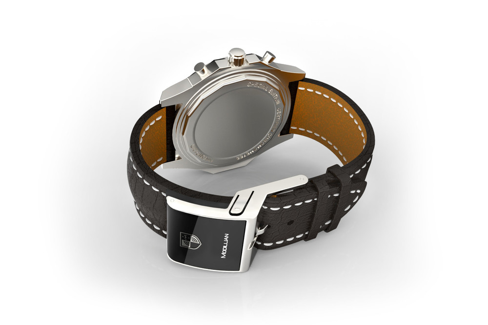 "The Modillian ""smart strap"" includes a Bluetooth-enabled buckle that vibrates in sync with your cell phone notifications."