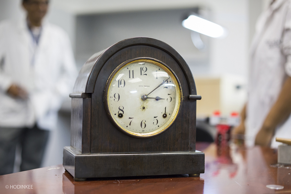 Students in the Watchmaking Program repaired a 100-year old table clock.