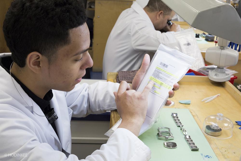 Program graduate Edwin Larregui is now an intern in Tourneau's Watchmaking department.