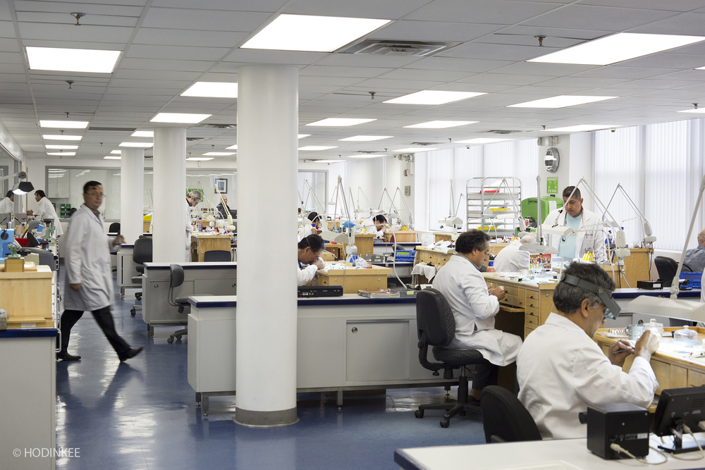 Tourneau's Watchmaking Program is on the same floor as its watch repair center.