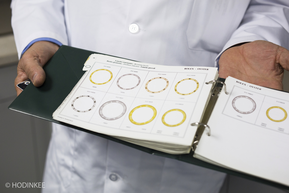 Manual guides, like this one for Rolex bezels, have been replaced by digital editions.