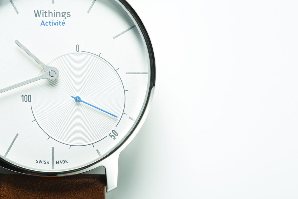 The Withings Activité integrates an accelerometer and digital tracker into a Swiss-made quartz movement.