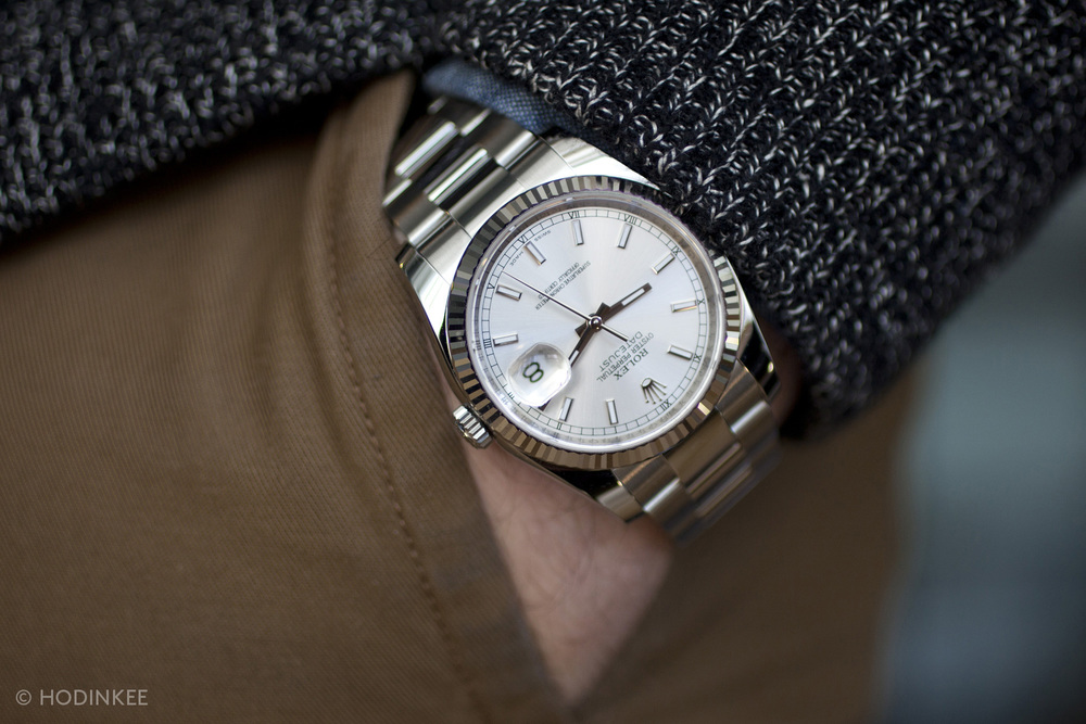 A Week On The Wrist: The Rolex Datejust — HODINKEERolex Datejust 36mm On Wrist