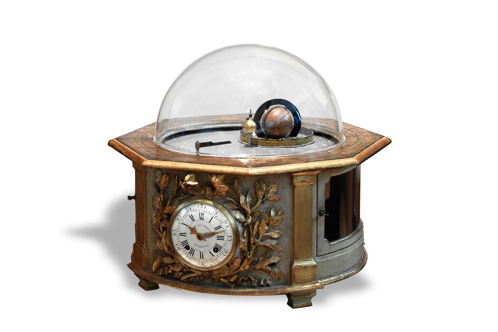 Passement - Important Louis XV Tellurian Orrery Clock. Image courtesy Antiquorum Auctioneers.