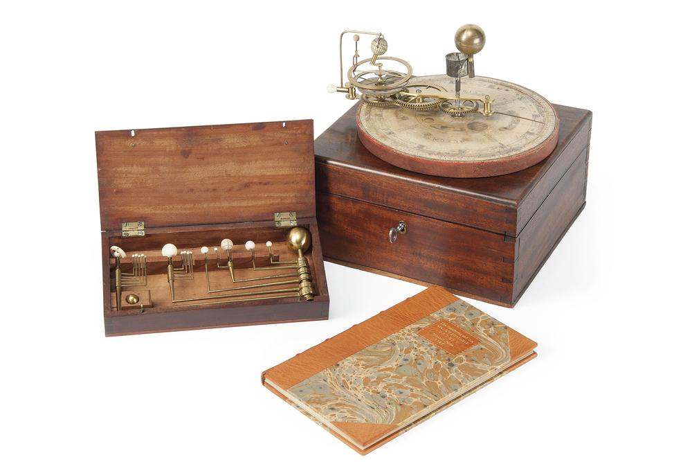 W. Jones - A George III Portable Orrery. Image courtesy Christie's Inc.