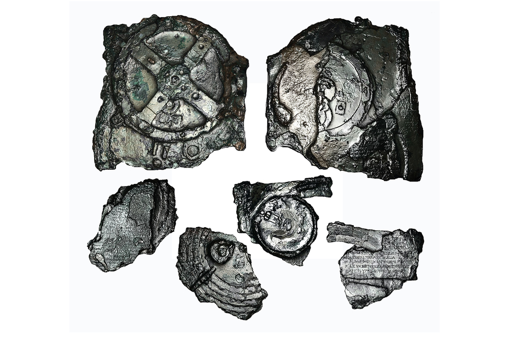 Fragments of the Antikythera Mechnaism. Image courtesy Antikythera Mechanism Research Project.
