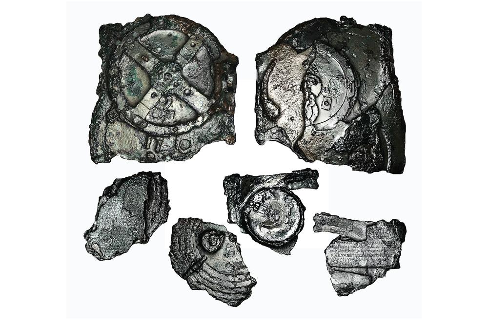 Fragments of the Antikythera Mechnaism. Image courtesy Antikythera Mechanism Research Project.