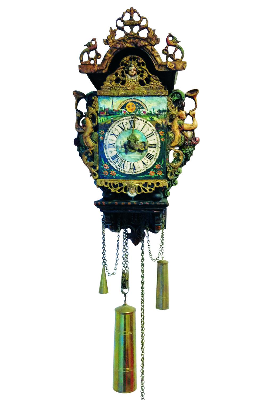 Christiaan van der Klaauw's first astronomical clock with moon phase c.1974.