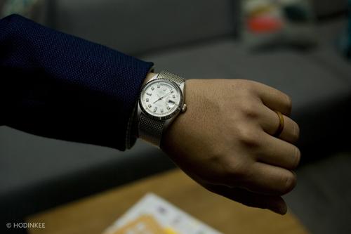 White gold Day-Date on Factory Mesh Bracelet