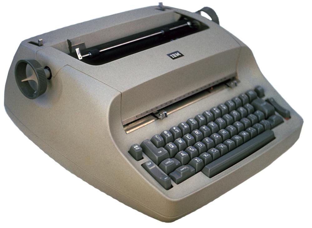 """IBM """"golfball"""" typewriter"""