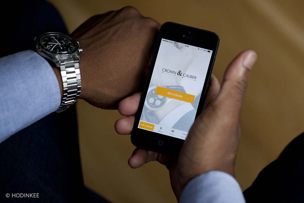 Crown & Caliber's new app allows you to submit watches to their appraisal team wherever you are.
