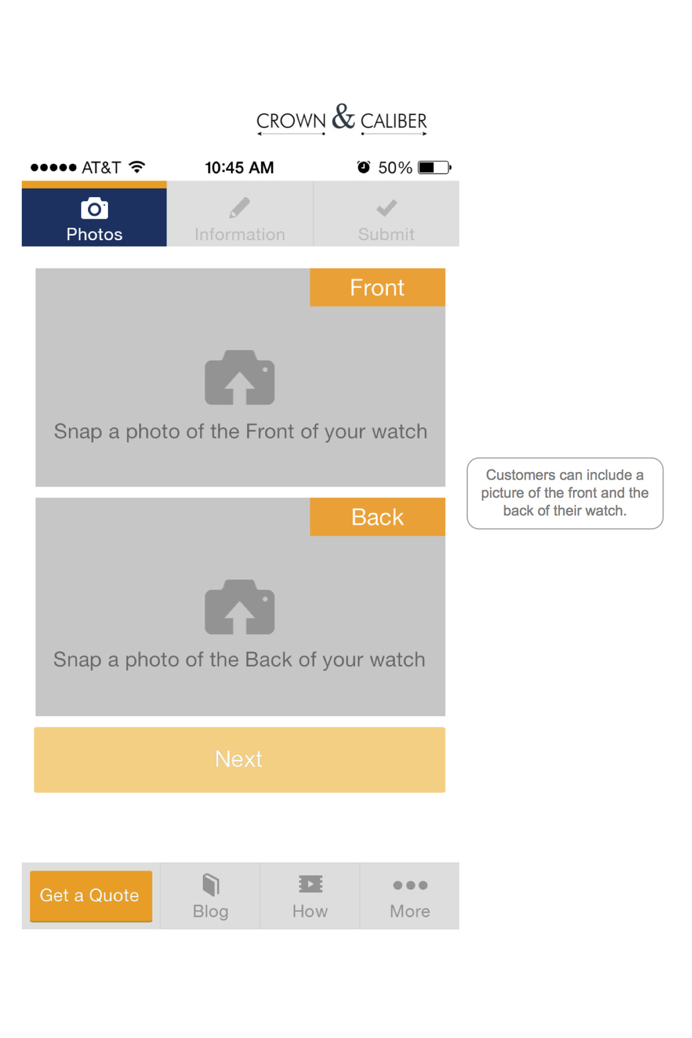 The new app allows you to easily upload photos of your watch with your smartphone's camera.