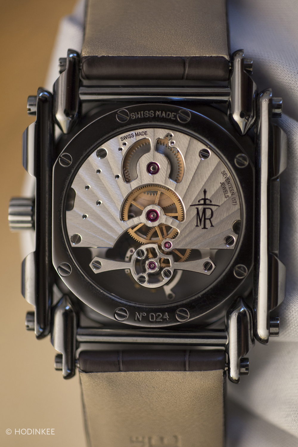 A single barrel within Caliber MR02 offers 108 hours (about 4.5 days)of power reserve when the watch is fullywound.