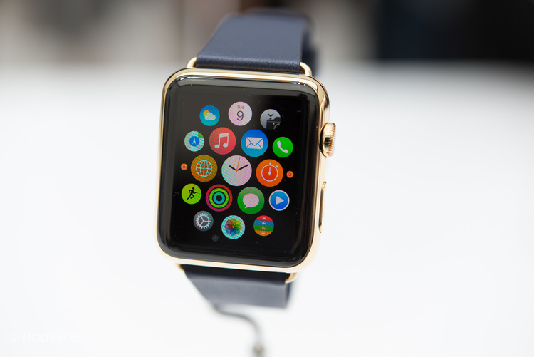 The solid gold Apple Watch Edition starts at $10,000.