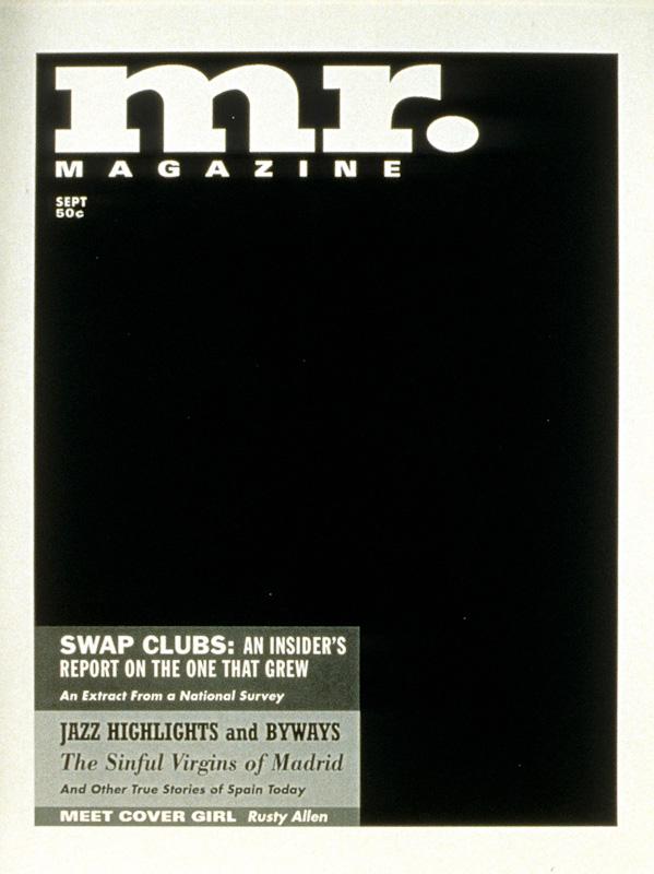 """""""Mr."""" (1995) (8""""x10"""") B/W laser print on paper."""