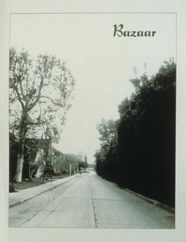 """Bazaar"" (1995) (8""x10"") B/W laser print on paper."