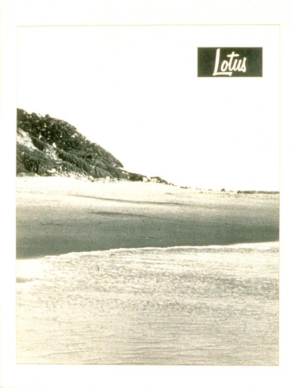 """""""Lotus"""" (1995) (8""""x10"""") B/W laser print on paper."""