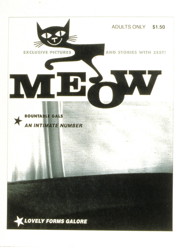 """Meow"" (1995) (8""x10"") B/W laser print on paper."
