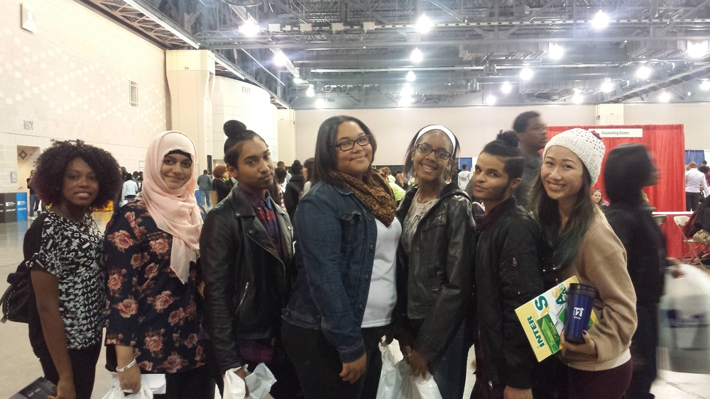 KHSA Team and students at the NACAC College Fair