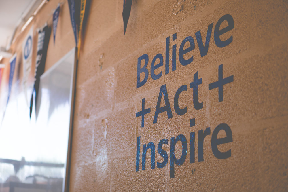 BELIEVE + ACT + INSPIRE - Emerging research has shown that an individual's mindset--the beliefs and perception of oneself in relation to learning--has substantial effects on school performance. Our team works to help students develop strong, positive mindsets about who they are and what they are capable of achieving.