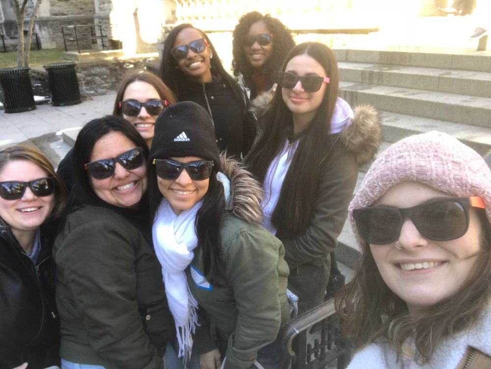 Danielle chaperoning a group of students to the 2018 Dollar Divas Conference at University of Pennsylvania.