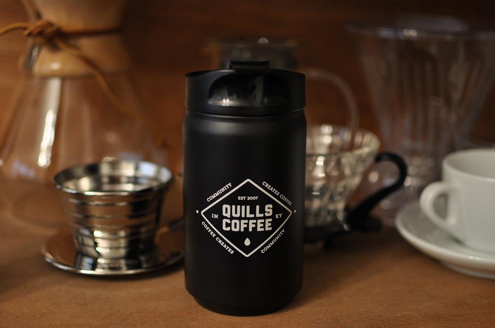 Quills travel mug