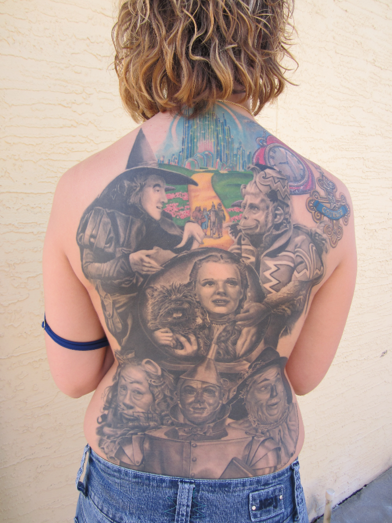 Wizard of Oz Back Piece