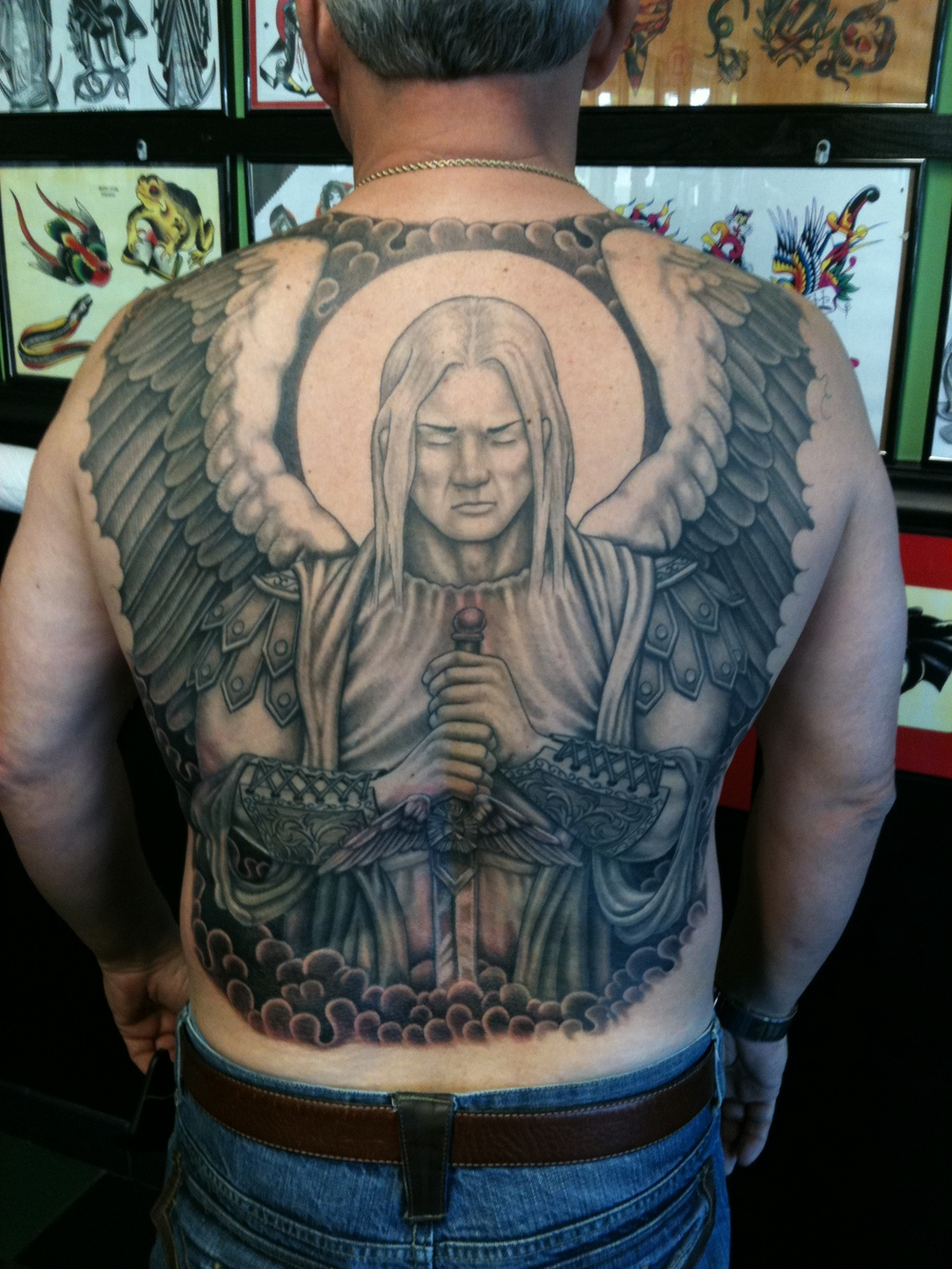 St. Michael Back Piece