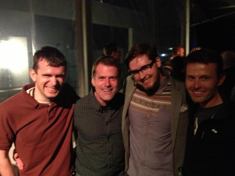 Merlin, Myke, and friends at Jim Dalrymple's Beard Bash