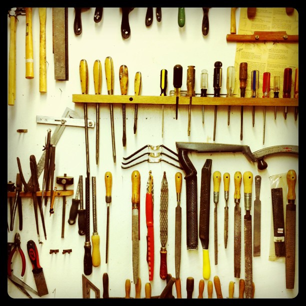 Maloof Workshop tools (Taken with instagram)
