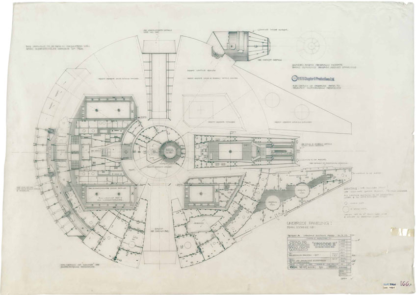 architizer :     Spec'ing the Millennium Falcon.    See more of Star Wars: The Blueprints and the Architecture of Star Wars!