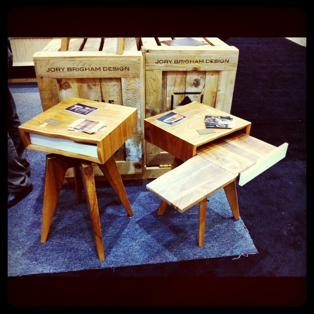 Jory Brigham's awesome end tables. (Taken with instagram)