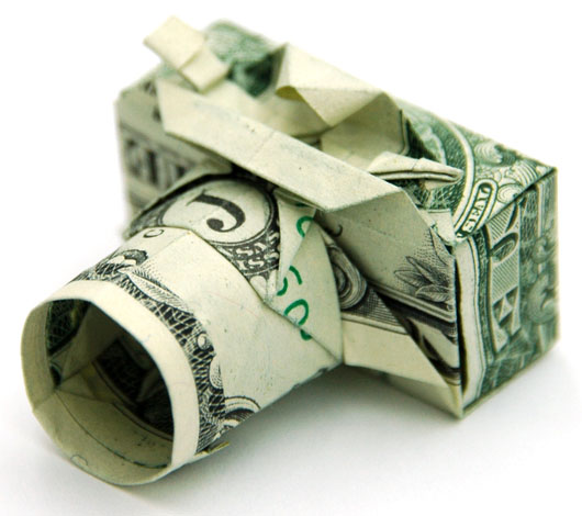 laughingsquid :      Origami Compact Camera Created With a One Dollar Bill