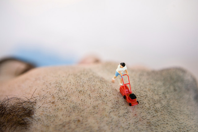 laughingsquid: Photos of Tiny People Doing Things In a Full-Size World Awesome macro photography