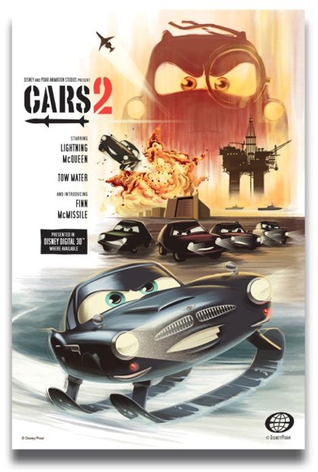 laughingsquid :      James Bond Themed Cars 2 Retro Poster