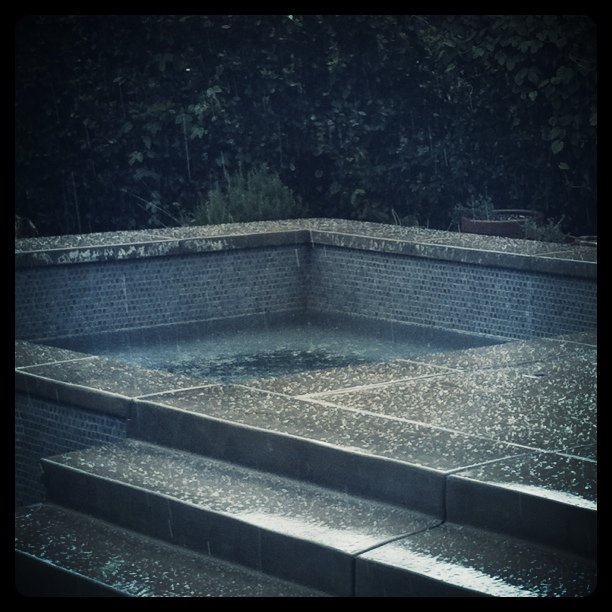 Hailstorm at home (Taken with  instagram )