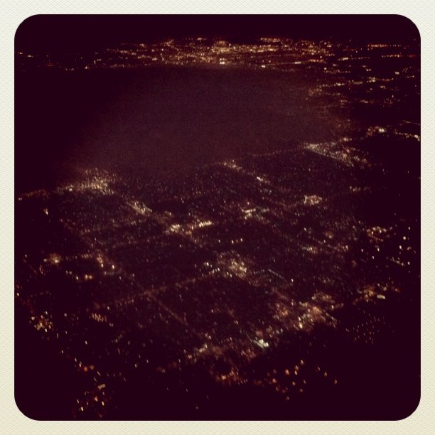 LA from the air at night (Taken with  instagram )