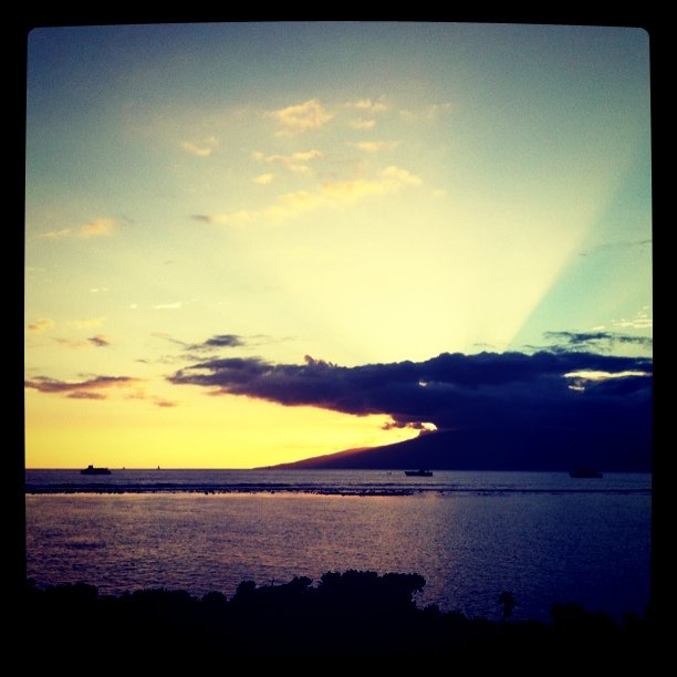 Sunset before the luau (Taken with instagram at The Feast at Lele (luau))