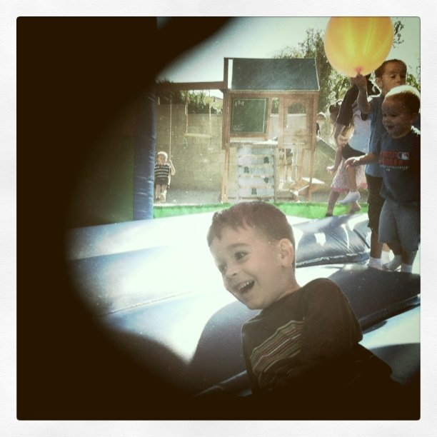 Jack through the netting of a bounce house (Taken with  instagram )