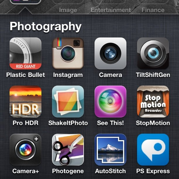 Photo apps (Taken with  instagram )