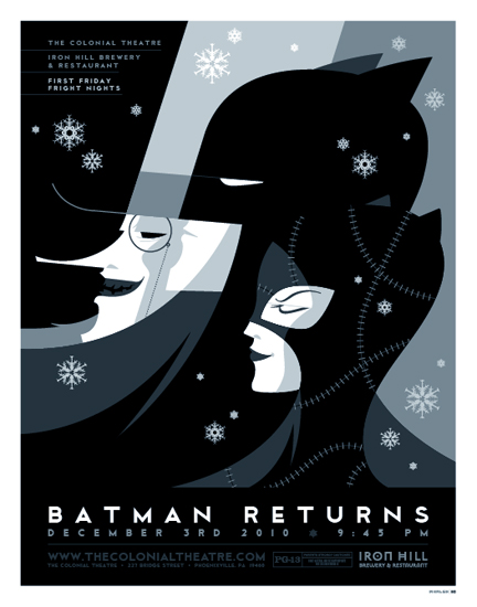 curvedwhite :      Batman Returns  by  Tom Whalen