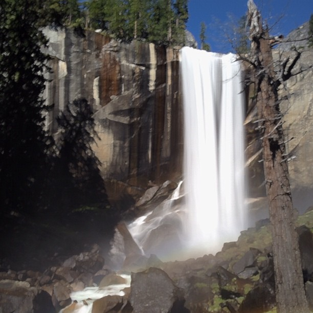 Long exposure of Vernal Falls using SlowShutter  (Taken with  Instagram  at Vernal Falls)