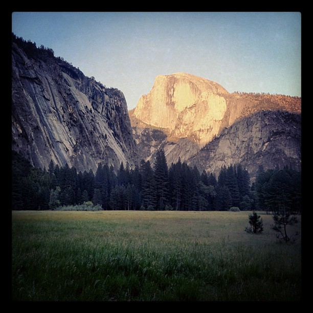 World class rock. Half Dome. (Taken with Instagram at Ahwahnee Hotel)