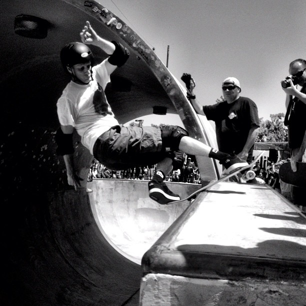 @tonyhawk has style. Laid back rock n roll.  (Taken with  Instagram  at Upland Skatepark)