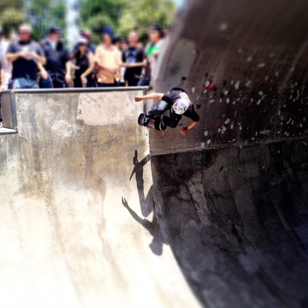 Off the wall (Taken with  Instagram  at Upland Skatepark)