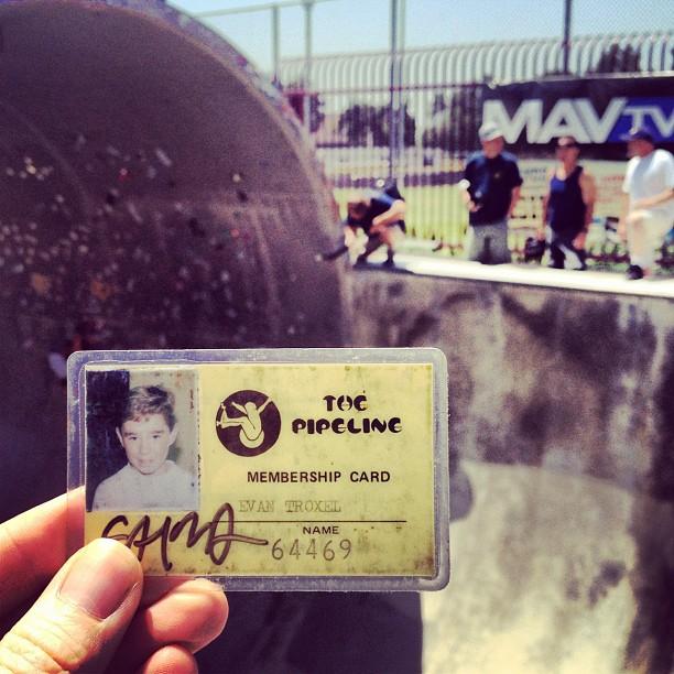 Steve Alba signed Pipeline card  (Taken with  Instagram  at Upland Skatepark)