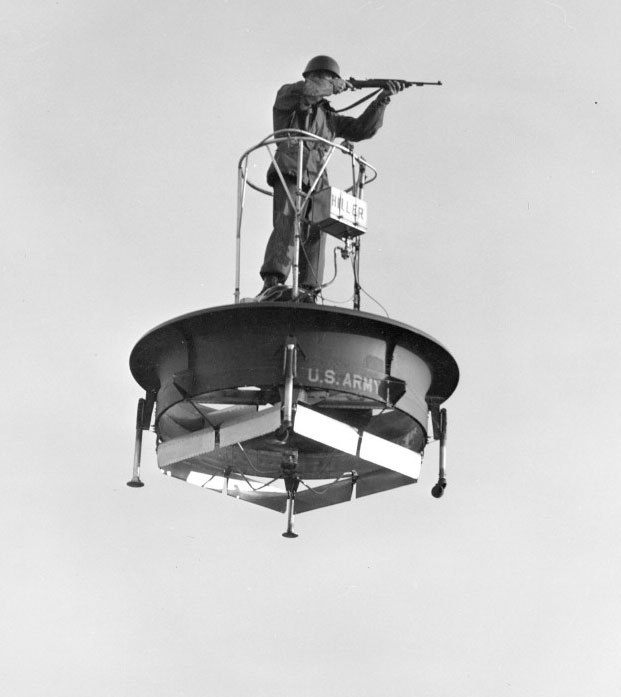 laughingsquid: US Military Demonstrates Experimental Flying Platform (1955)