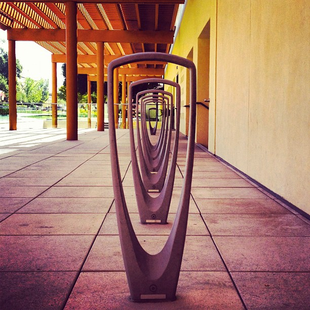 Bike racks at Claremont McKenna College by Forms & Surfaces (Taken with  Instagram  at Kravis Center)