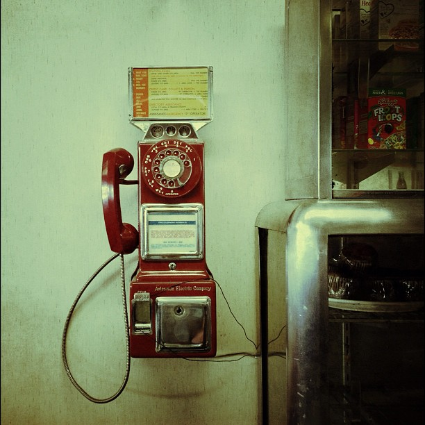 Public Phone (Taken with  Instagram  at Roberta's Village Inn)